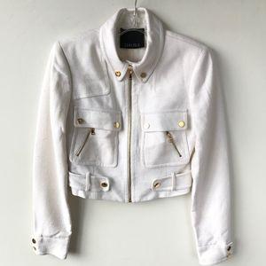Carlisle Silk Dressy Utility Jacket Size 0 #431